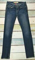 BKE Buckle Madison Skinny Womens Size 25X32 Stretch Skinny Leg Blue Jeans
