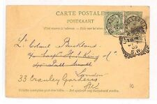 BB255 1899 BELGIUM Brussels GB London Postcard Uprated Stationery