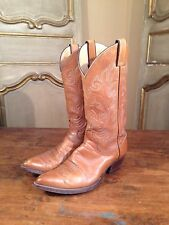 "Justin Womens Cowboy Western Boots Size 7 1/2"" B"