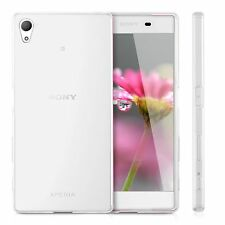 Ultra Slim Clear Glitter GEL Case Cover & Tempered Glass for Sony Xperia Phone Xz1 Transparent
