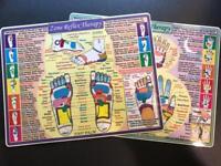 "Zone Reflexology (Hand and Foot) Laminated 8""x12"" Chart!"