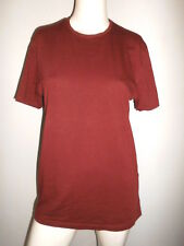 T-SHIRT BASIC FEMME ZARA SUPER SLIM FIT BRIQUE FONCER T:M