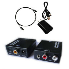 Optical Coaxial Toslink Digital to Analog Audio 3.5mm Adapter Converter L/R RCA