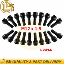 20 Wheel Lug Bolts Nuts 36131095390 12X1.5mm for BMW E46 E90 E39 E60 E53 E91 E92