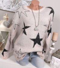 Sterne Damen-Pullover & -Strickware mit Rundhals-Ausschnitt in Größe 38