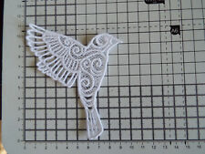 "1 x Large White Bird Bunting ,Guipure Lace,Applique,Trimmings -3.70"" x 3.90"""