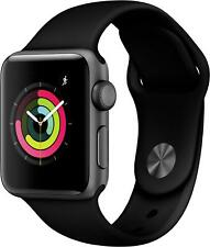 Apple Watch Series 3 GPS 38mm Smart Watch Aluminium Sport Band Black GPS ECG