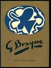 Jacopo Recupero, Braque. Catalogo, Edizioni dell'Ente Premi, Roma 1958