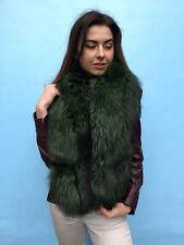 Silver Fox Fur Collar 55 Inch.140cm Saga Furs Stole Green Fur Boa