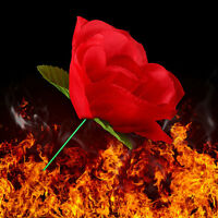 Hot Stage Flame Appearing Flower Close Up Magic Trick Fire to Torch Rose Tricks