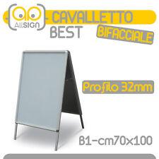 ESPOSITORE CAVALLETTO BIFACCIALE ALLUMINIO 70X100 cornici pvc pannello poster