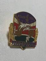 Vintage 1996 USA Atlanta Olympics Jumping Pin - Olympic Games Pinback VTG NEW
