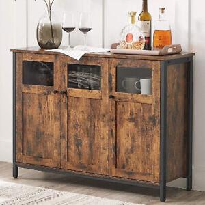 Vintage Industrial Sideboard Cabinet Cupboard Storage Unit Rustic Metal Hallway