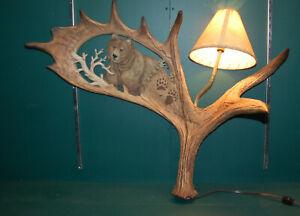 Vintage Mill Creek Studios Original Wall Hang Light Bear/ Lodge/Cabin  LOOK COOL