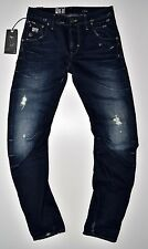 G-Star raw-arc 3d Ajustado Dk Aged Destroy Usado,Vintage Look jeans-w31 L34