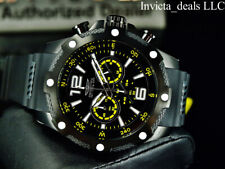 Invicta Men's 50mm I Force COMPASS Chrono BLACK DIAL Black/Yellow Tone SS Watch