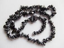 40pz perline chips pietre ematite 5-8mm  colore nero foro 0,8mm bijoux