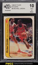 1986 Fleer Sticker Michael Jordan ROOKIE RC #8 BCCG 10 (PWCC)