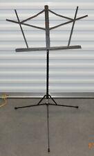 Proline GMS20BK Adjustable Folding Music Stand- Black- Compact- Travel