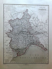 Piemonte Cartografia Pagnoni 1865