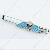 British Parachute Wings Tie Pin - Blue Coloured Military Style Accessory