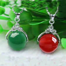 2pc/Set Natural Chinese Green Red Agate Chalcedony Pendants Lucky Hand-carved