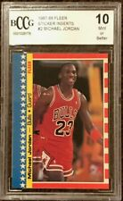 1987 87 Fleer Michael Jordan Sticker #2 BCCG 10 Sharp!