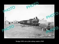 OLD LARGE HISTORIC PHOTO OF TARALGA NSW VIEW OF THE RAILWAY STATION c1940