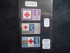 Great Britain (Queen Elizabeth II) 1963 Red Cross (SG 642p-44p) phos MNH