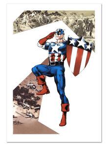 Captain America Corps #2 Canvas Giclee Art by Phil Jimenez Marvel Artworks