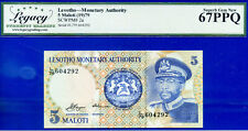 Lesotho Monetary Authority - 5 Maloti (19)79 - Superb-GEM - SCWPM# 2a # 604294