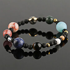 Fashion Ladies Galaxy Bracelet Eight Planets Solar System Natural Colored Stone