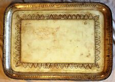 Regency / William IV Enameled, Gilded & Paint Decorated Serving Tray c.1830