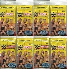 (8) 2016 Topps WWE HERITAGE Wrestling Trading Cards New 16ct. Fat Pack LOT