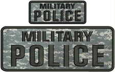 military police embroidery patch 4x10 and 2x5 hook on back multicam ACU