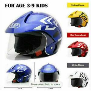 Kids Motorcycle Motorbike Safe Helmets For 3-7 Years Old Open Face Motocross AU