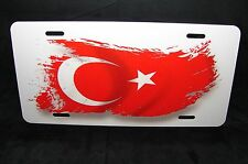 TURKISH FLAG NOVELTY LICENSE PLATE FOR CARS  Türk Bayrağı