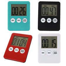 8 Colores LCD Digital Cocina Temporizador Cuenta Regresiva Up Reloj Alarma Imán