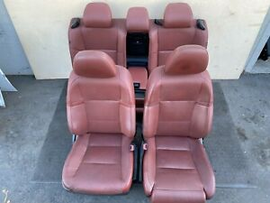 ✔LEXUS 13-15 GS350 F-SPORT RED SEATS SET FRONT BACK SEAT COMPLETE INTERIOR OEM