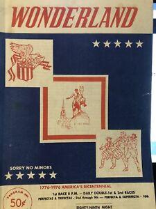1976 Wonderland Greyhound Program August 16.