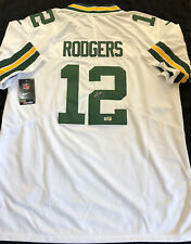 Aaron Rodgers Signed Green Bay Packers Nike NFL White Jersey COA
