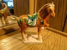 Vintage Ceramic Porcelain Brown Horse Figurine w/Raised Leg - Japan Marking