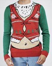 NEW UGLY CHRISTMAS SWEATER CO  MENS CHRISTMAS  COTTON KNIT JUMPER   SIZE  MEDIUM