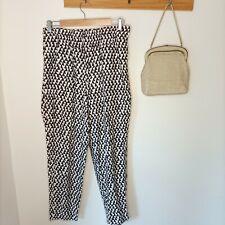 RARE Vintage Carla Zampatti Designer checkered dresspants 100% cotton 10 elastic