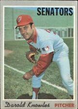 1970 TOPPS BASEBALL CARD OF DAROLD KNOWLES OF THE SENATORS  CARD   #106