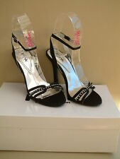 "NEW BLACK EVENING SHOES by PINK size 38 (UK5) £10 boxed ""KYLIE"" style"
