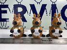 Vintage Toys Lot Of 3 Robin Reed Reindeer Racing Rare Good Condition