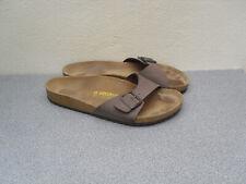 Men's brown Birkenstock sandals open toe foot bed sole barely used size 10.5 -11