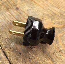 Antique Lamp Plug Black Vintage Electric Plugs Cloth Wire Lamp Cord Plug