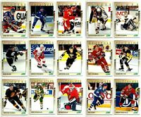 1991-92 SCORE YOUNG SUPERSTARS COMPLETE 40 CARD INSERT SET LOT RC Jagr Sakic BV